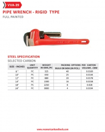 Pipe Wrench- Rigid Type